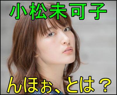 小松未可子の『んほぉ』とはどういう意味?元ネタを徹底解説します!e